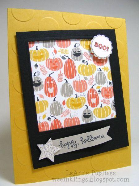 leanne pugliese weeinklings good greetings halloween stampin up - Stampin Up Halloween Ideas