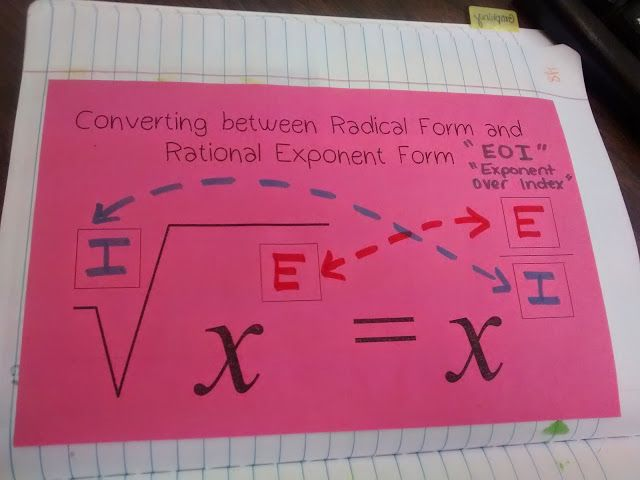 Converting between Radical Form and Rational Exponent Form