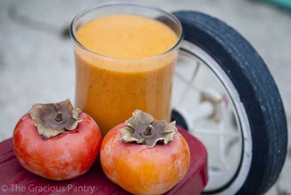 Clean Eating Kid's Persimmon Smoothie | The Gracious Pantry