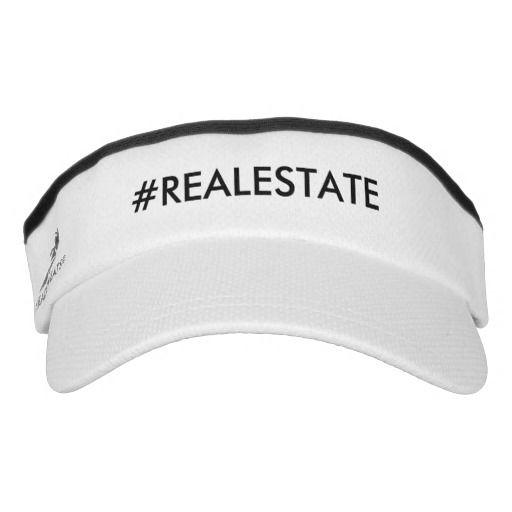 #Realtor  hat visor white with black letters, hasht