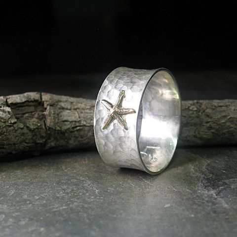 Tidepool Starfish ring in brushed sterling silver   ...from Lavender Cottage Jewelry