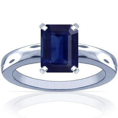 18K White Gold Emerald Cut Blue Sapphire Solitaire Ring GemsNY, http://www.amazon.com/dp/B005593W3I/ref=cm_sw_r_pi_dp_LJ0Qqb1SFTRF8
