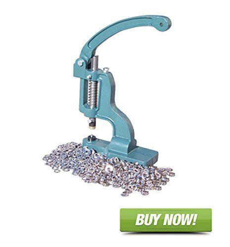 """Signworld Grommet Machine + 1 Die Set + 1000 Grommets Size #1 (5/16"""")"""
