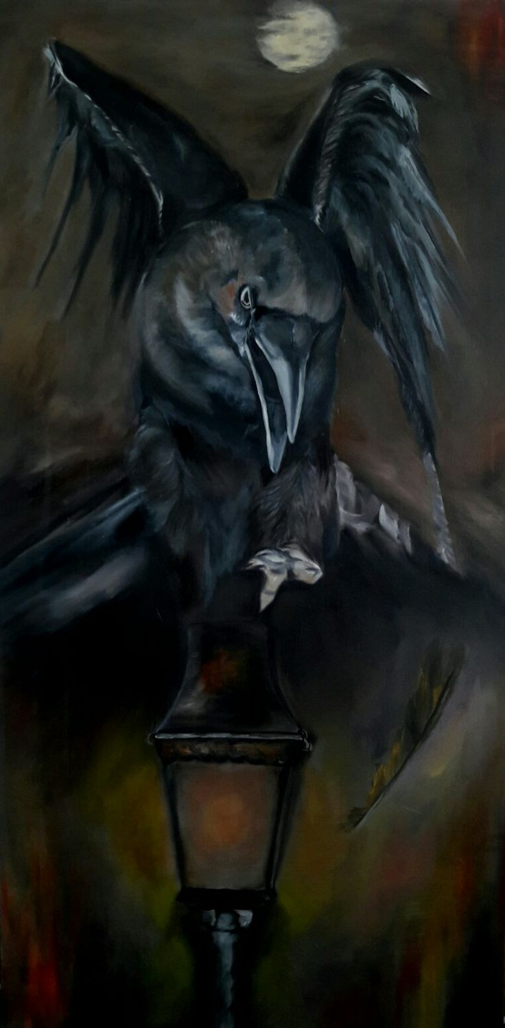 Crow oil color