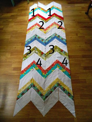 Strip Tube Chevron Quilt Pattern Free Quilt Pattern