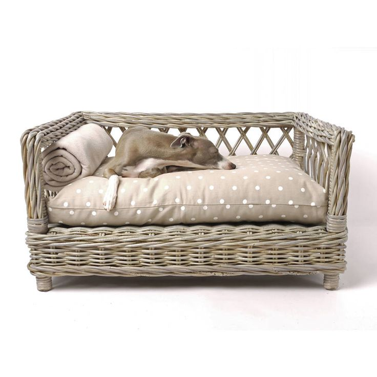 Charley Chau's Raised Rattan Dog Bed is a beautiful piece of furniture for your home.A unique and stunning design, handwoven with greywash kubu rattan by skilled craftsmen - it is simply stunning. The Raised Rattan Dog Bed is avalable on its own or select a Charley Chau Luxury Dog Bed Mattress for a perfect fit. The styling on Charley Chau's Raised Rattan Dog Bed is simply stunning; from the crossed lattice around the sides to the twisted weave that frames the bed and the woven skirt around…