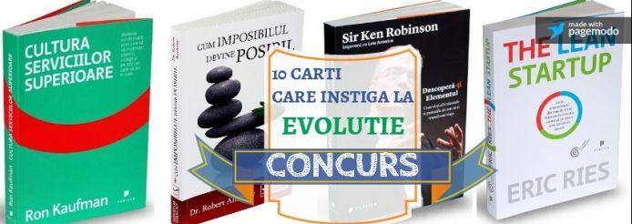 CONCURS: Castiga un pachet de 10 carti care instiga la EVOLUTIE | Learning Network