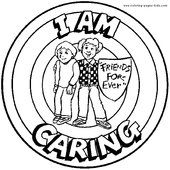 I am Caring - Coloring page