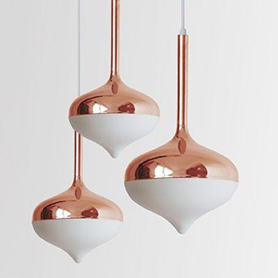 Spun Pendant Lighting Rose Gold | Evie Group