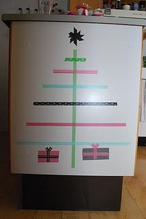 Masking tape christmas tree