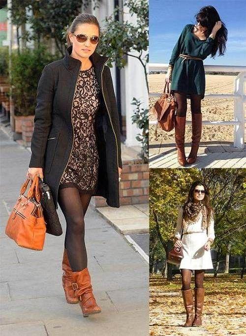 e6a7c5520 vestidos con botines y medias - Buscar con Google | Moda | Botas ...