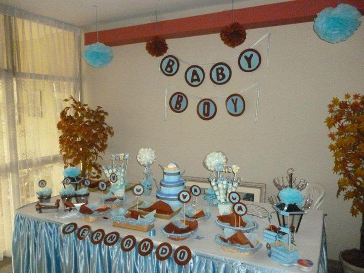 Decoracion fiestas infantiles baby shower y toda ocacion - Decoracion de baby shower nino ...