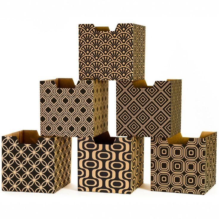 Modern Patterns Decorative Cardboard Storage Boxes
