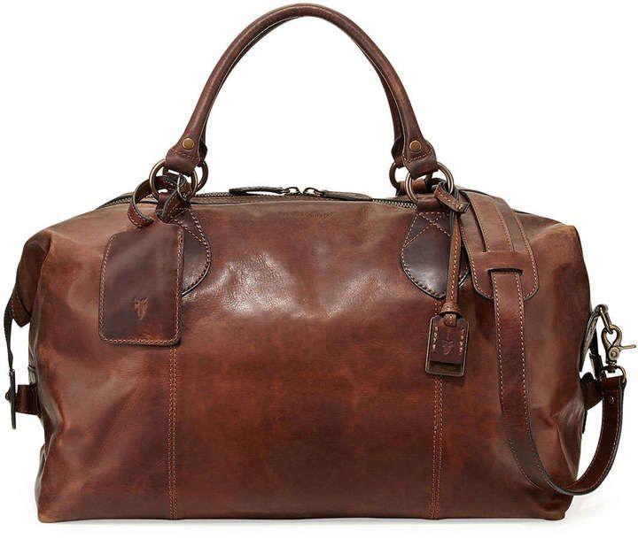 Frye Logan Men's Leather Overnight Bag, Dark Brown