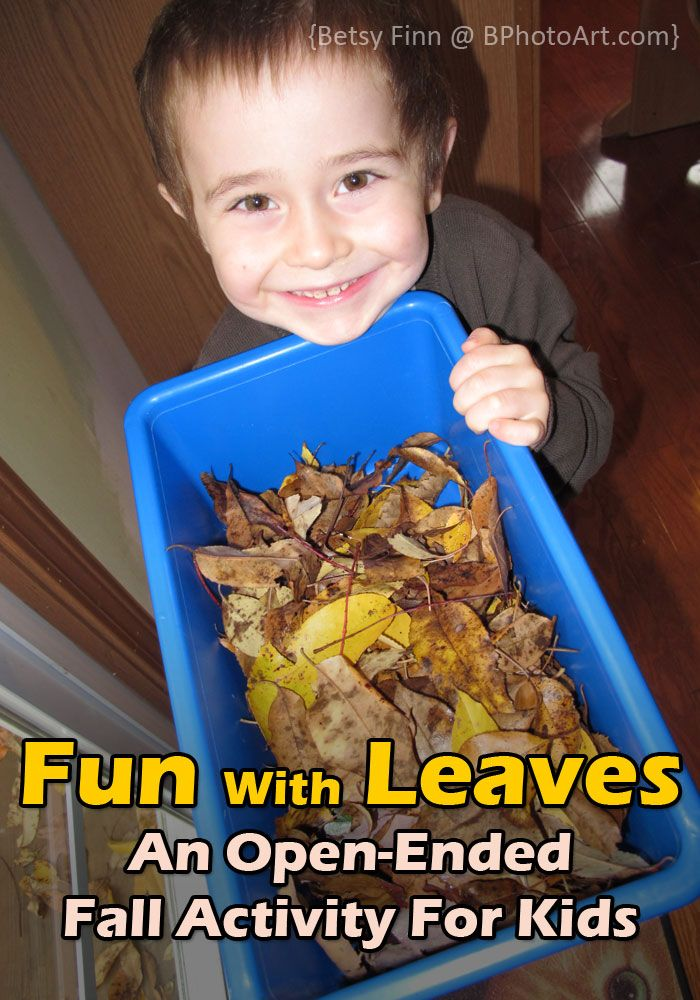 Here is a fun open ended activity with leaves for our line up of fall activities for preschoolers.