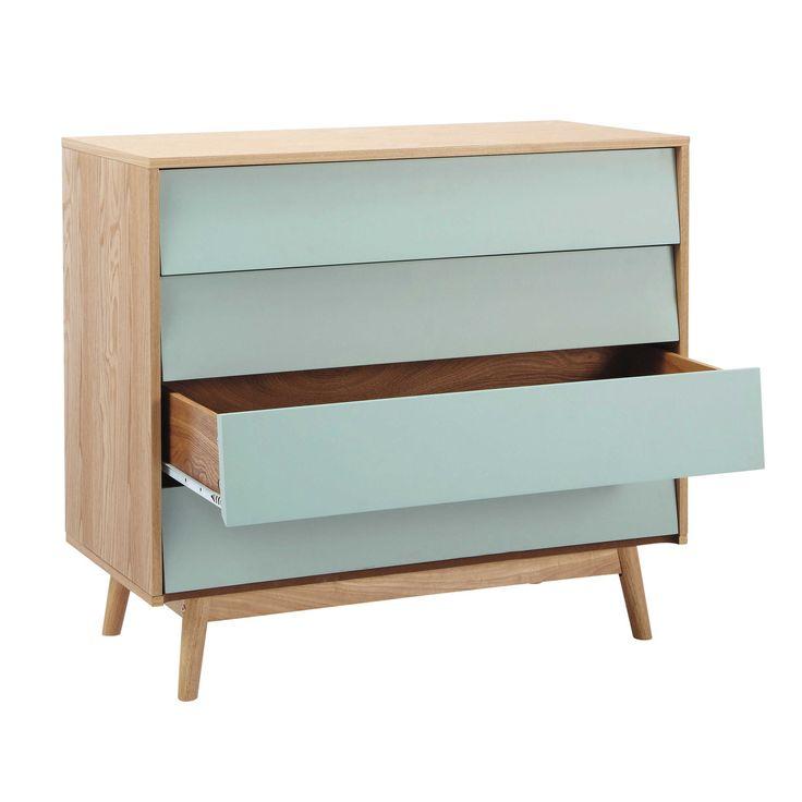Impressionnant Maison Du Monde Commodes #3: Wooden Vintage Chest Of Drawers, Blue W 90cm Fjord | Maisons Du Monde