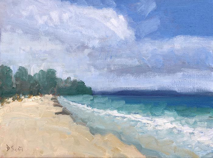 How To Loosen Up Your Painting Style Seascape Paintings Landscape Paintings Seascape