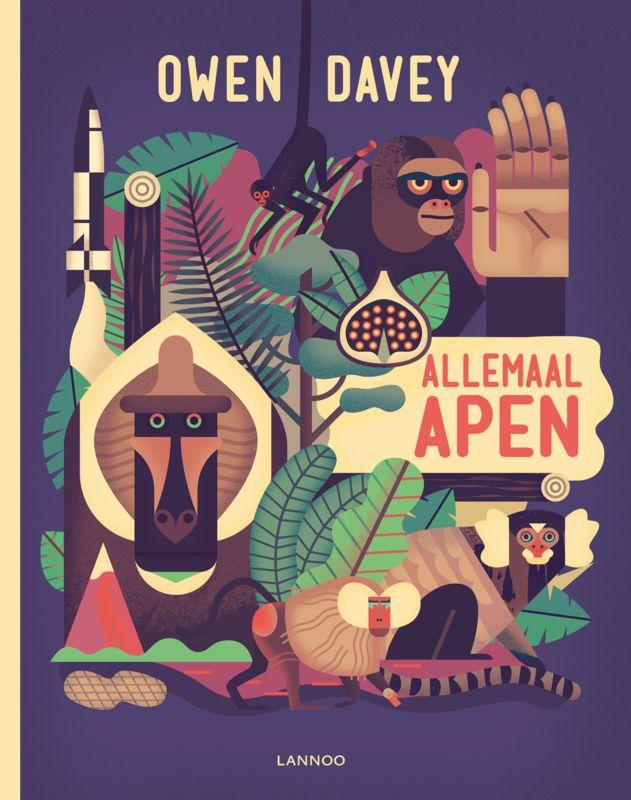 Allemaal Apen - Owen Davey