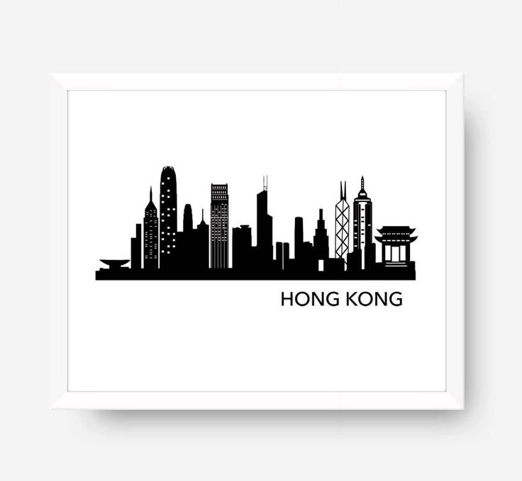 56 best cityscape world map wall art images on pinterest antique hong kong skyline hong kong silhouette print hong kong art hong kong wall gumiabroncs Choice Image