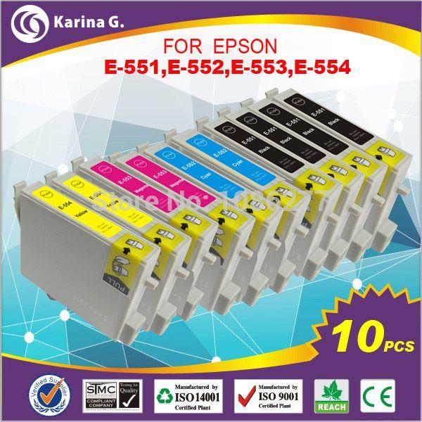 10X Compatible Inkjet Cartridge T0511-14 For EPSON RX420 RX425 RX520 R240 R245  Cartucho De Tinta #Affiliate