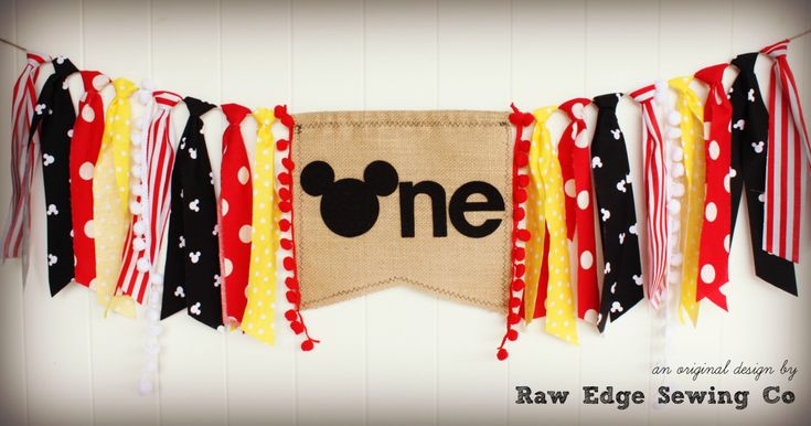 MICKEY MOUSE Birthday Age High Chair Highchair Birthday Banner Photo Prop Backdrop Cake Smash First One Clubhouse Vintage Baby Minnie Mouse by RawEdgeSewingCo on Etsy https://www.etsy.com/listing/285809125/mickey-mouse-birthday-age-high-chair