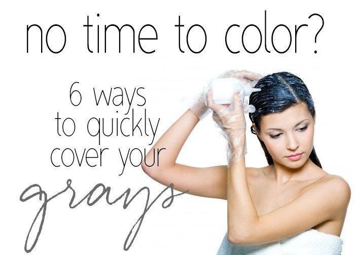 Finding time to head to the salon for your hair color can be really difficult at times.  It can take a few hours, not to mention the cost!  Luckily there are a lot of quick and easy to use products out there to help you stretch out the time in between your salon visits, or temporarily cover things up until you can really get your color done. Read on as eBay shares six quick ways to quickly cover your grays!