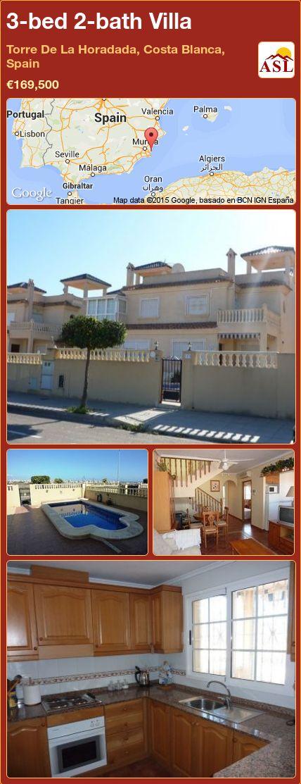 3-bed 2-bath Villa in Torre De La Horadada, Costa Blanca, Spain ►€169,500 #PropertyForSaleInSpain