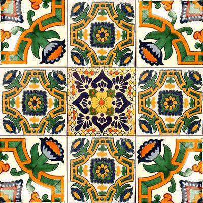 9 Мексиканская плитки керамика Талавера Мексика ручной работы арт Талавера набор плитки #A 007