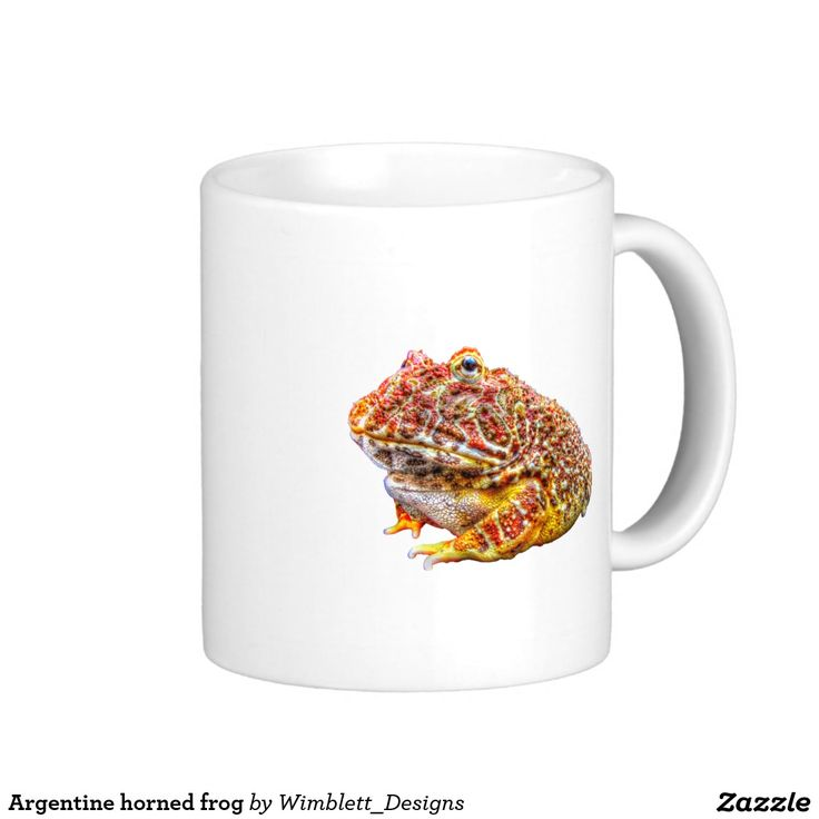 Argentine horned frog basic white mug