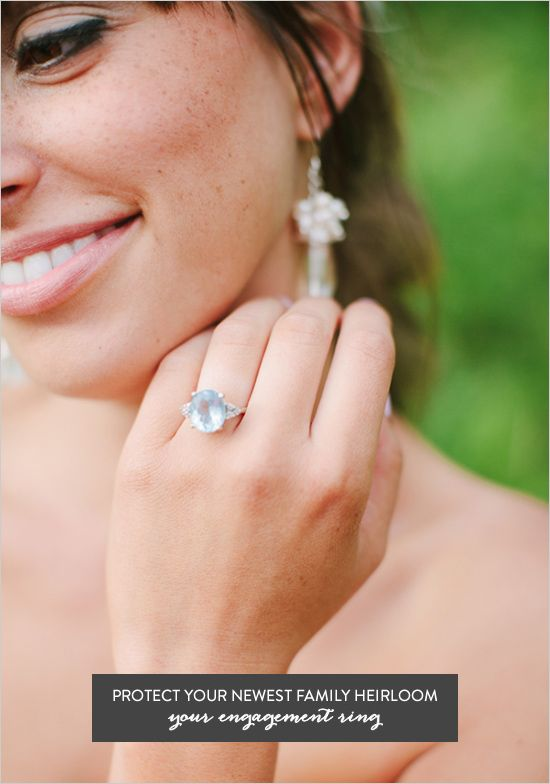 How To Protect Your New Engagement Ring with jewelry insurance via Wedding Chicks