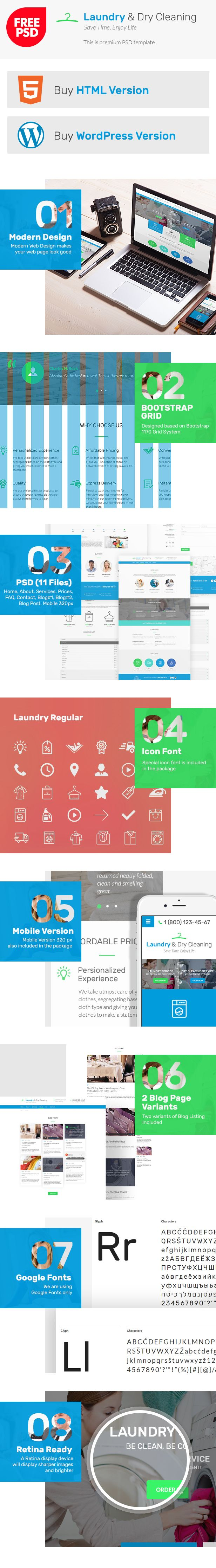 #Free #Laundry Dry #Cleaning PSD #Template