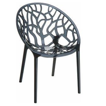 Židle Crystal Black Transparent | Bonami