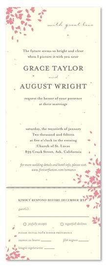 romance aio plantable garden wedding invitationswedding - Plantable Wedding Invitations