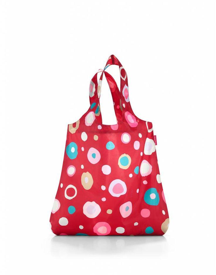 Trendy boodschappentasje met speelse stippen. Reisenthel - mini maxi shopper funky dots - Mebracelet #mebracelet #Reisenthel #funkydots #shoppingbags