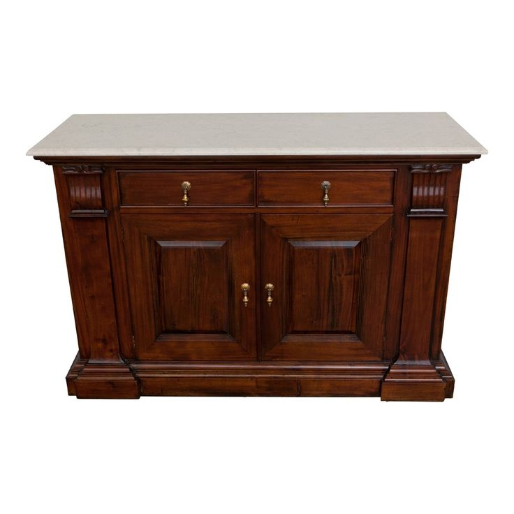 Grecian Buffet 140cm French Brown Mahogany
