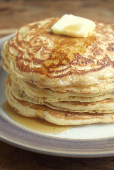 Perfectly Light & Fluffy Whole Wheat Buttermilk Pancakes
