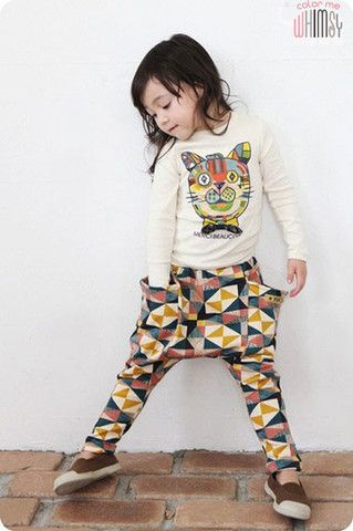 Geometric Sweat Pants by COLOR ME WHIMSY