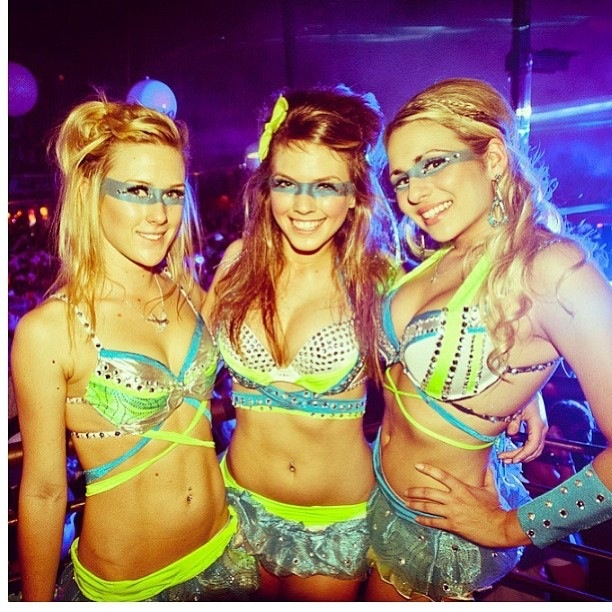 Because sometimes, playing to a room full of dudes gets old ... quick!  Sometimes he says LOL!  EDM girls    wrapped bras