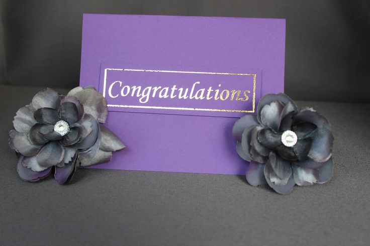 Purple Congratulation Cards With Gold Foil by DazzlingCreationsCA on Etsy