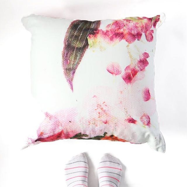 Abstract floral cushion from Sarah Blythe ww.sarahblythe.com
