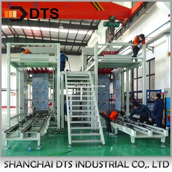 Automatic double channel depalletizer machine