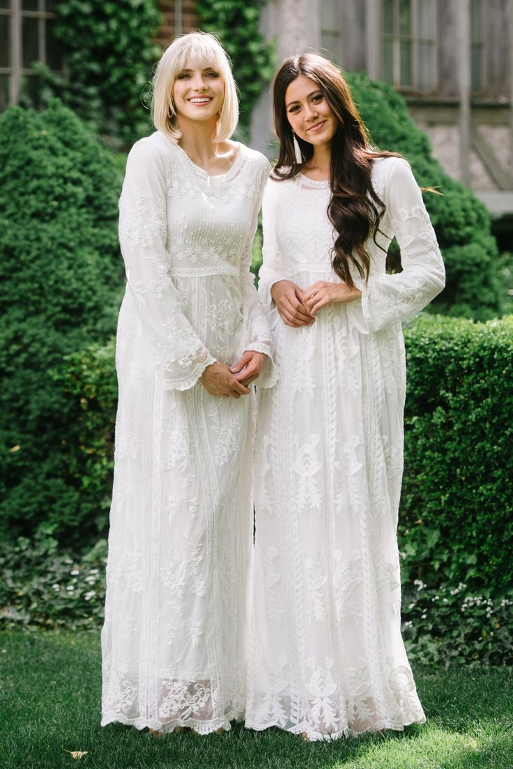 Modest Temple Dresses The Ogden Preston Temple Dress Dresses Modest White Dress [ 1104 x 736 Pixel ]