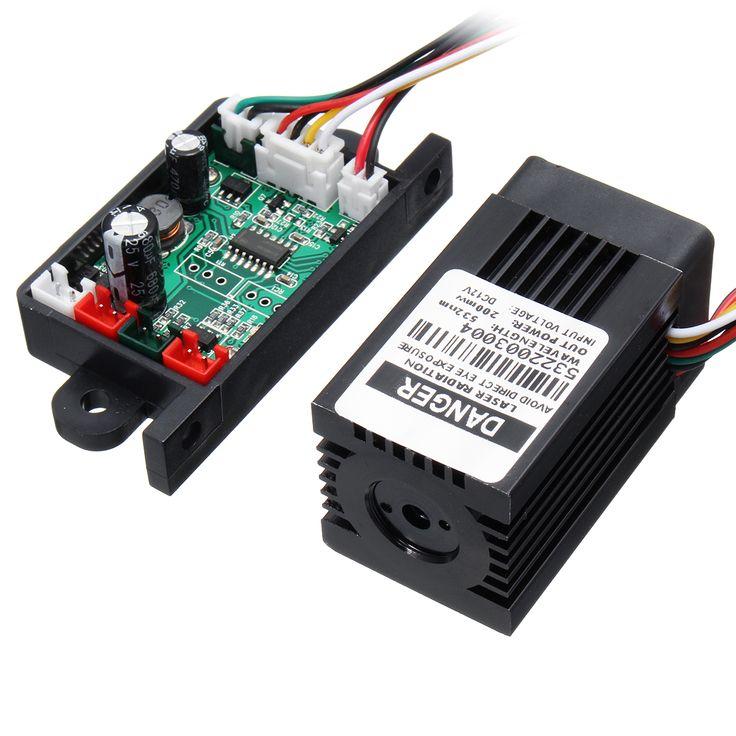 ModuladorTTLdeldisipadortérmicodel módulo de punto Láser del verde de 200MW 532nm para el grabador Láser