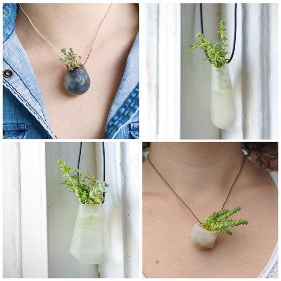 *Wearable little planter necklaces...I need one!