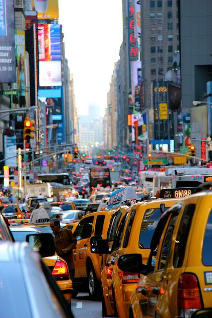 NYC. Traffic rush hour in Manhattan...UGH...can you imagine all the toxic fumes breathed in while sitting in this jam?!! :-/