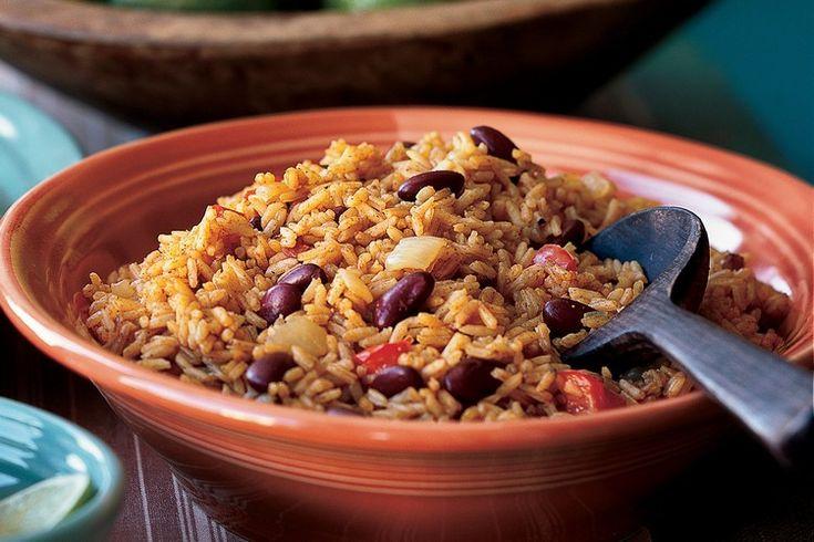 Reis mit roten Bohnen aus der kubanischen Küche