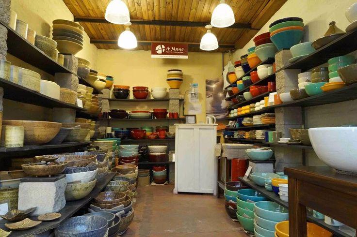 Bacha artesanal de cer mica de 25cm para apoyar o embutir for Herramientas ceramica artesanal