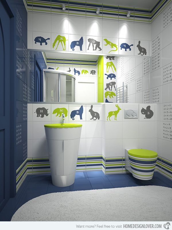 Colorful and Quirky Kid's Bath – Badezimmer