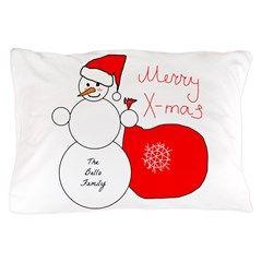 The Bello Family Snowman Pillow Case