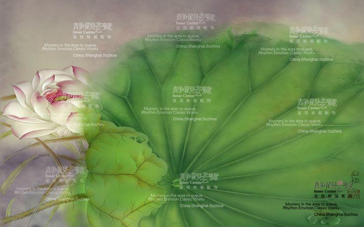 Стена бумага обои крупномасштабный фреска фон стена книга живопись китайский стиль лотос ткань охрана окружающей среды оригинал бесшовный b-100